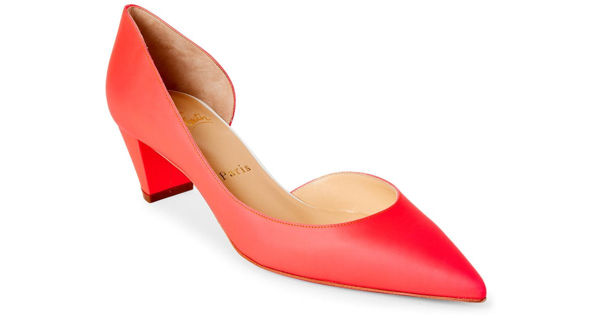 cd949770e18 Lyst - Christian Louboutin Orange Fluo Karera D Orsay Pumps