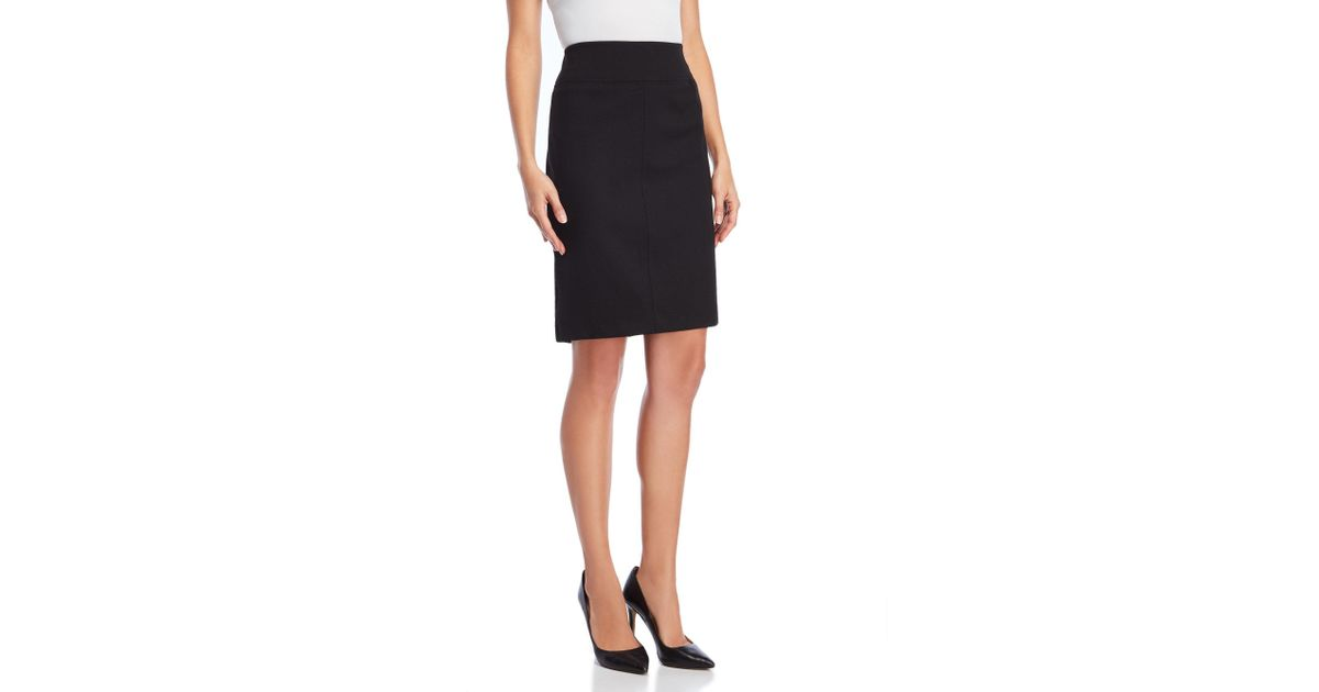 e30875f5d0 Lyst - Philosophy Ponte Zip Pencil Skirt in Black