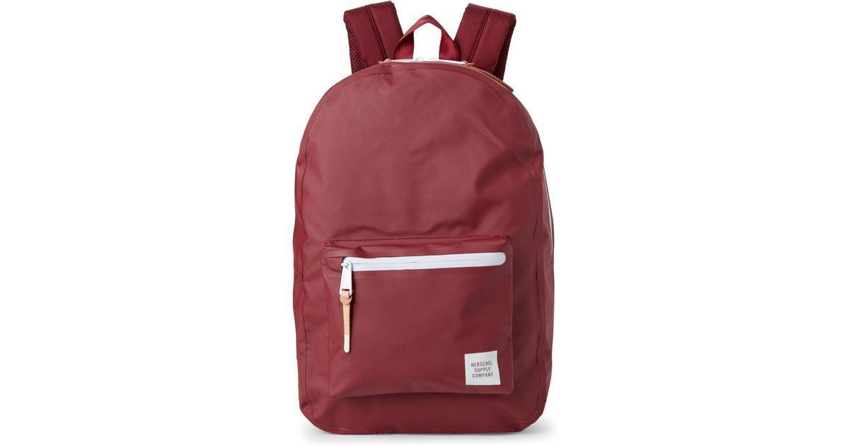 0184de3d03a Lyst - Herschel Supply Co. Windsor Wine Settlement Tarpaulin Laptop Backpack  in Red