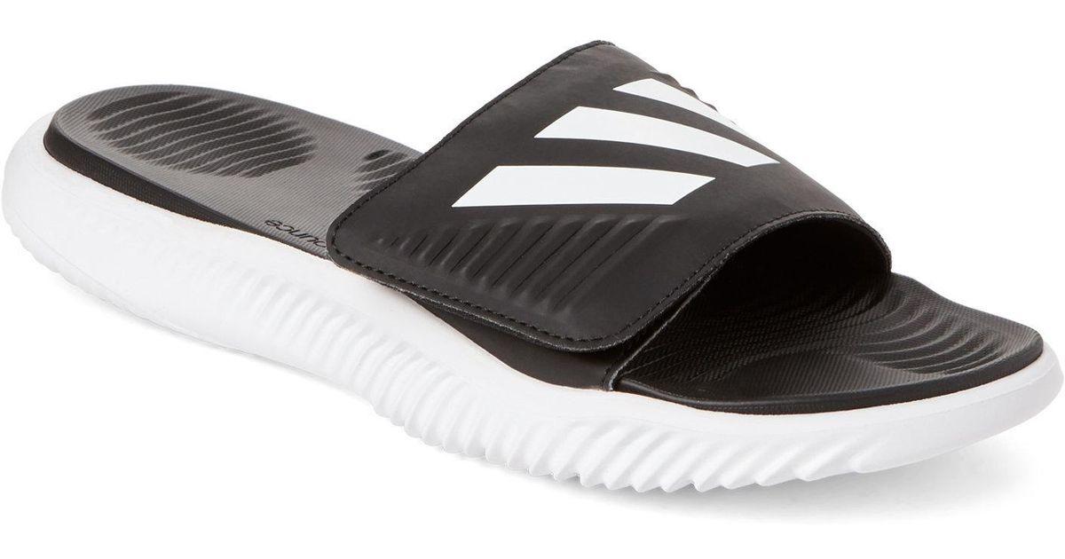 af942cd11cf904 Lyst - adidas White   Black Alpha Bounce Slide Sandals in Black for Men