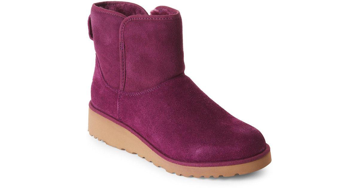 37f86db9cf4 Ugg Purple Kristin Classic Slim Boots
