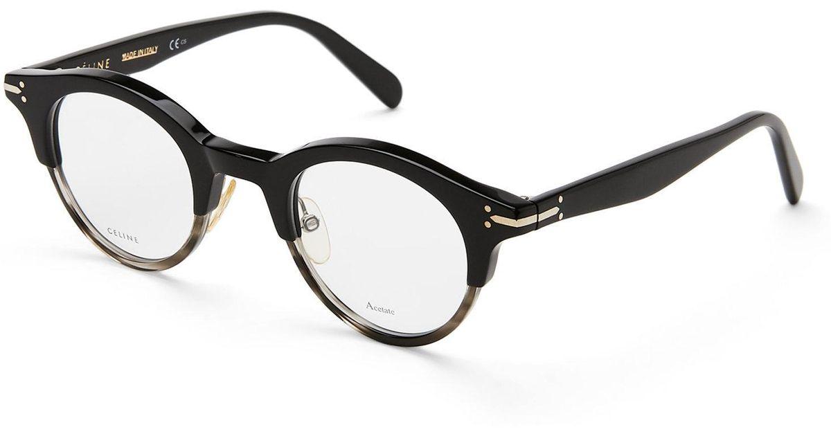 Lyst - Céline Cl 41421 Black Havana Round Optical Frames in Black