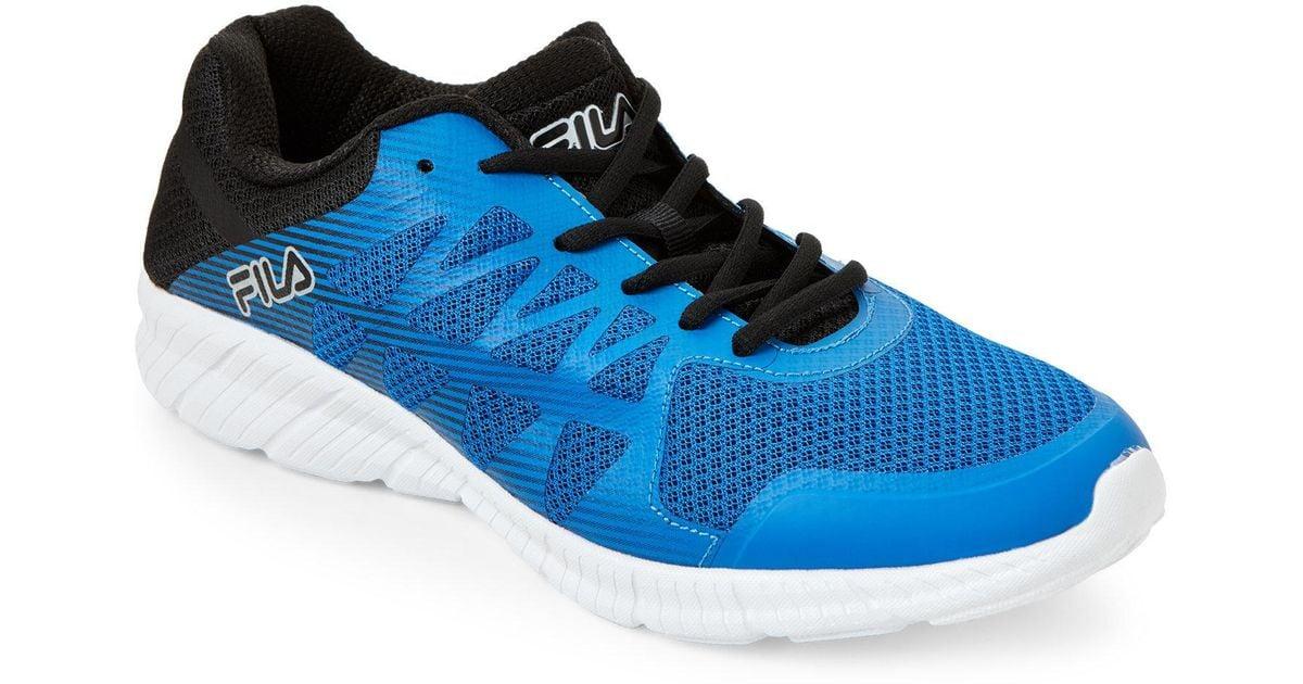 960736f5d847 Lyst - Fila Blue   Black Memory Finity Running Sneakers in Blue for Men