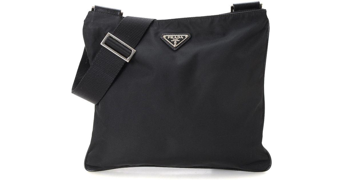 71e78315c5ba ... bag 2 vz 135 nylon  brand new dc2b4 bc115 Lyst - Prada Tessuto  Crossbody - Vintage in Black for Men ...