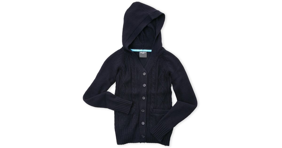 Lyst Eddie Bauer Girls 4 6x Hooded Cable Knit Cardigan Sweater