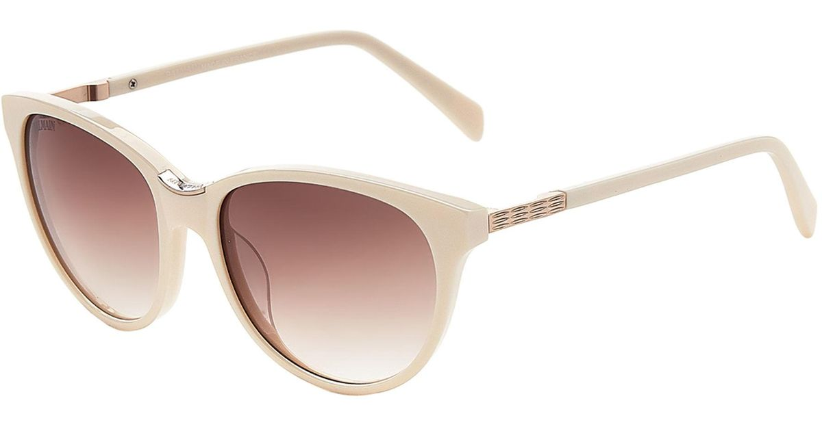 d5e78802d1 Balmain Bl2100 Beige Cat Eye Sunglasses in Natural - Lyst