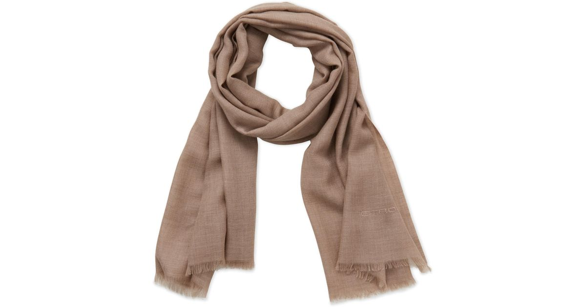 73fcb69d2 Lyst - Etro Light Brown Cashmere Scarf in Brown
