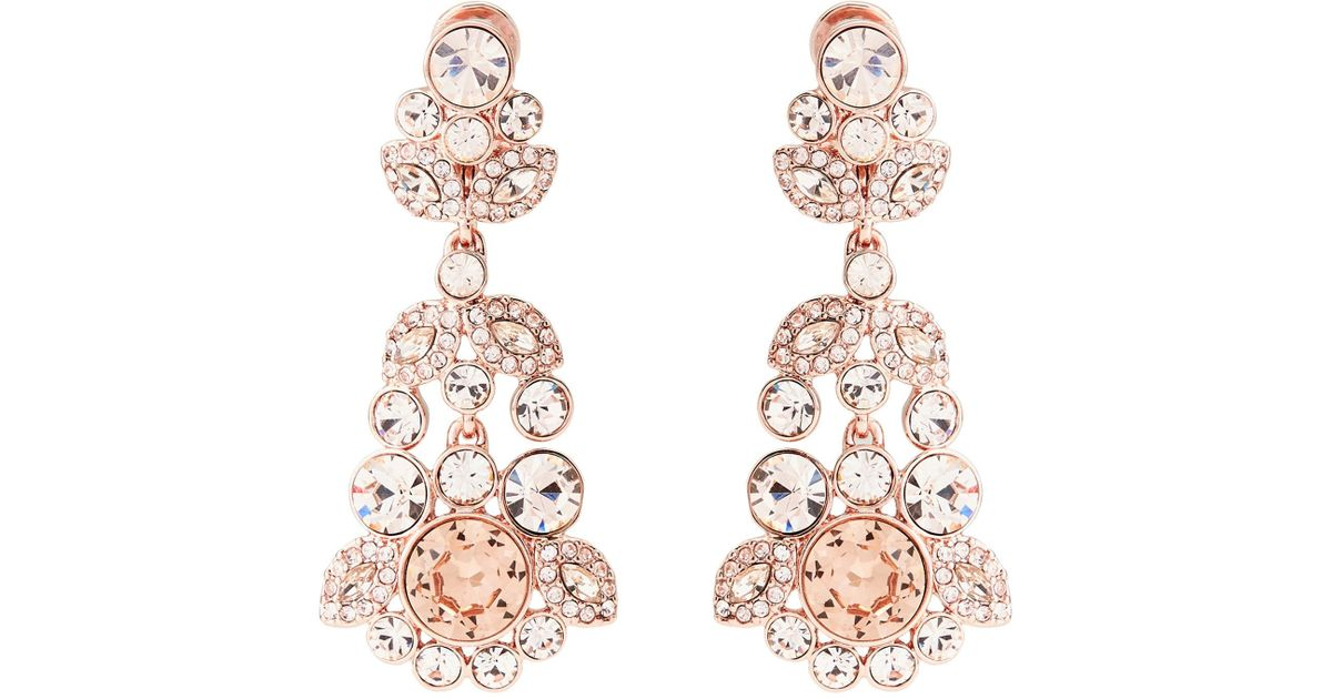 Lyst givenchy rose gold tone chandelier earrings aloadofball Image collections