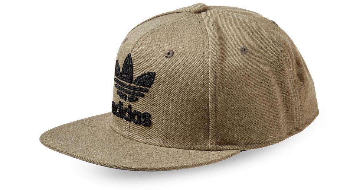 f9e9711cbdc ... ebay lyst adidas trefoil chain snapback cap in green for men 682a4 0f58c