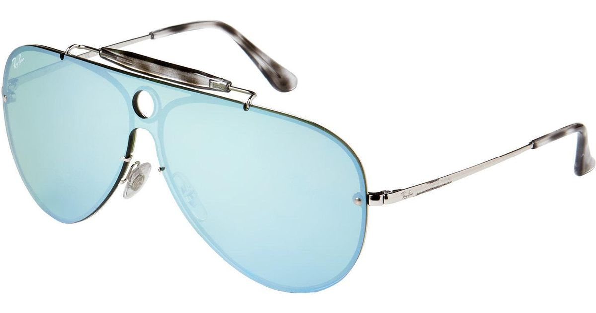 5ddceb3a65 Lyst - Ray-Ban Rb 3581 Silver-tone Aviator Sunglasses for Men