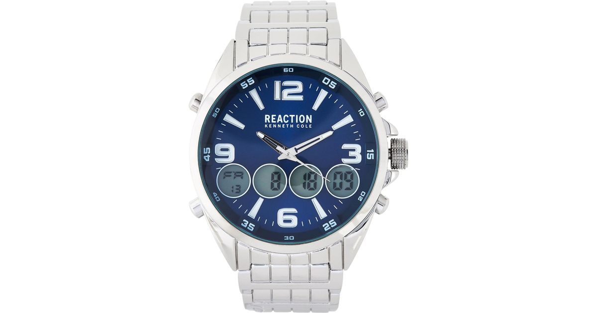 64cd4682616 Lyst kenneth cole reaction silver tone analog digital watch in metallic for  men jpeg 1200x630 Reaction