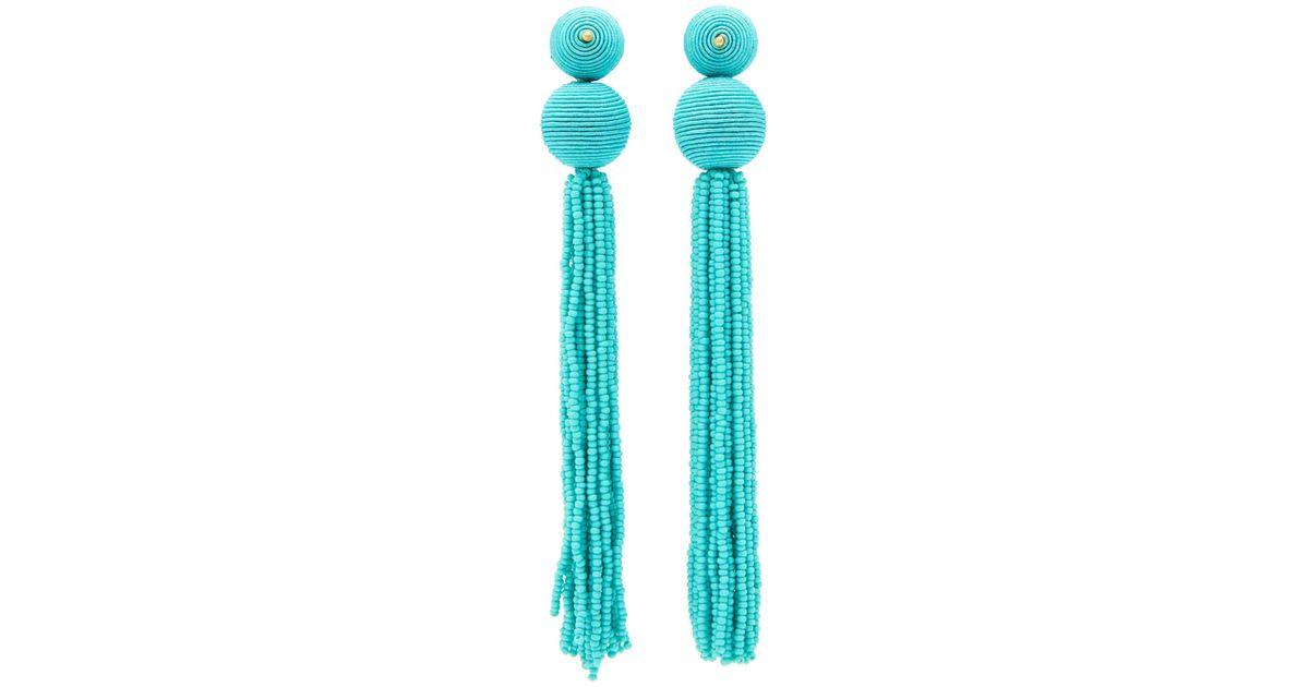 Kenneth Jay Lane Rainbow Seed Bead Tassel Earrings NwW59UK6Z