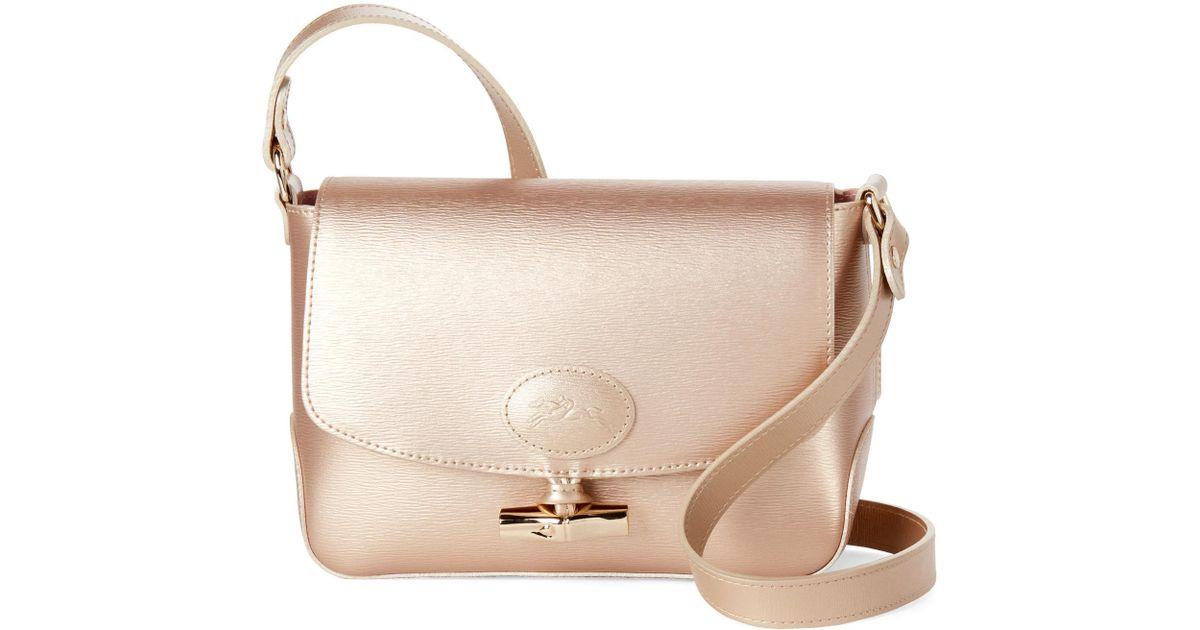 6518f5872a Lyst - Longchamp Gold Roseau Crossbody Bag in Metallic