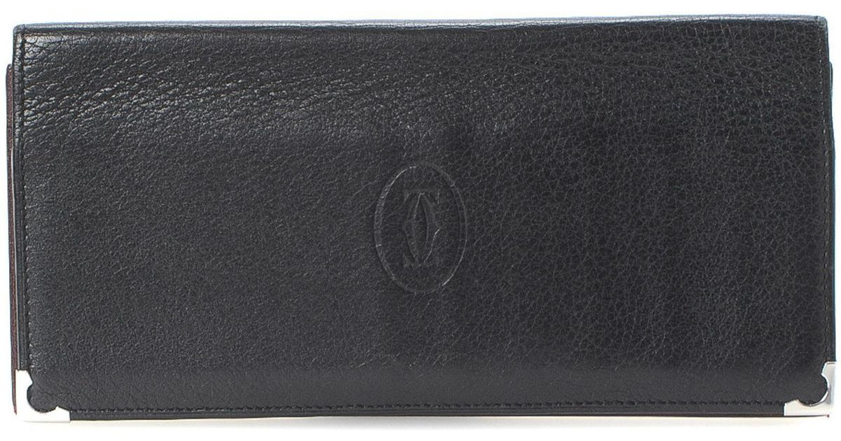 6e6ad5a84ff Lyst - Cartier Continental Wallet - Vintage in Black
