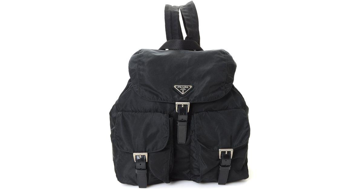 Lyst - Prada Backpack - Vintage in Black a5da9e4a477ec