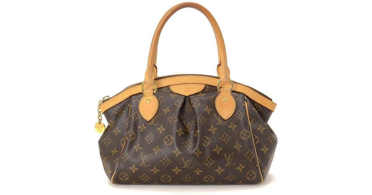6166251fc4 Lyst - Louis Vuitton Monogram Tivoli Pm Handbag - Vintage in Brown
