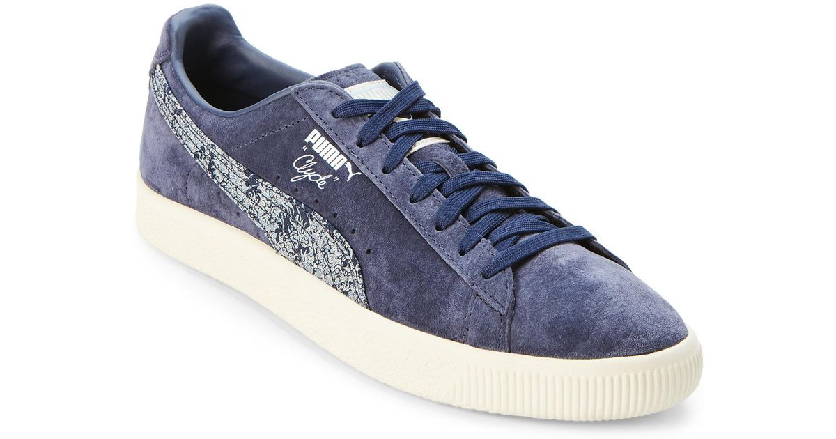 official photos 6e261 d9950 PUMA Peacoat Blue Clyde Marine Low Top Sneakers for men
