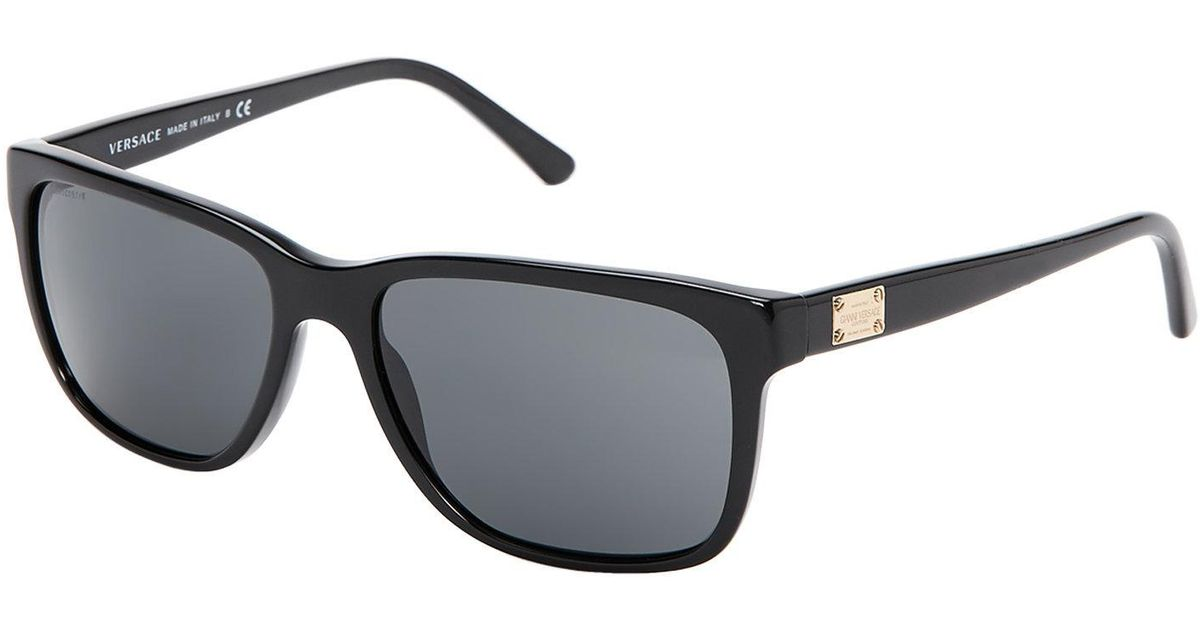 95a7dbbcfefec Versace Ve4249 Black Square Sunglasses in Black for Men - Lyst