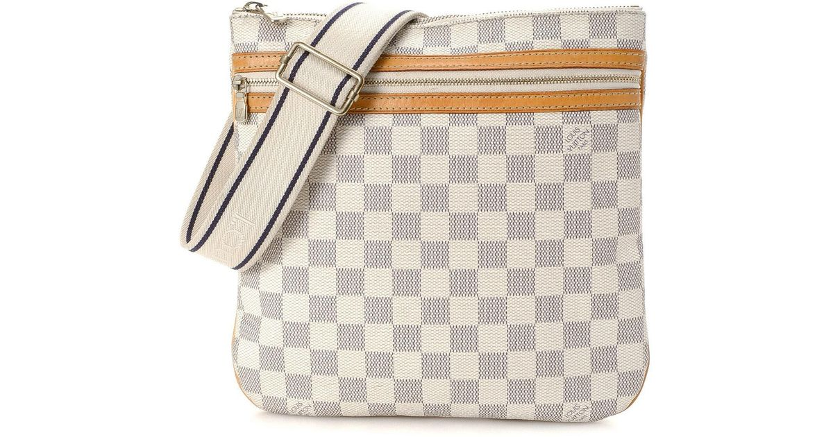 Lyst Louis Vuitton Crossbody Bag Vintage In White