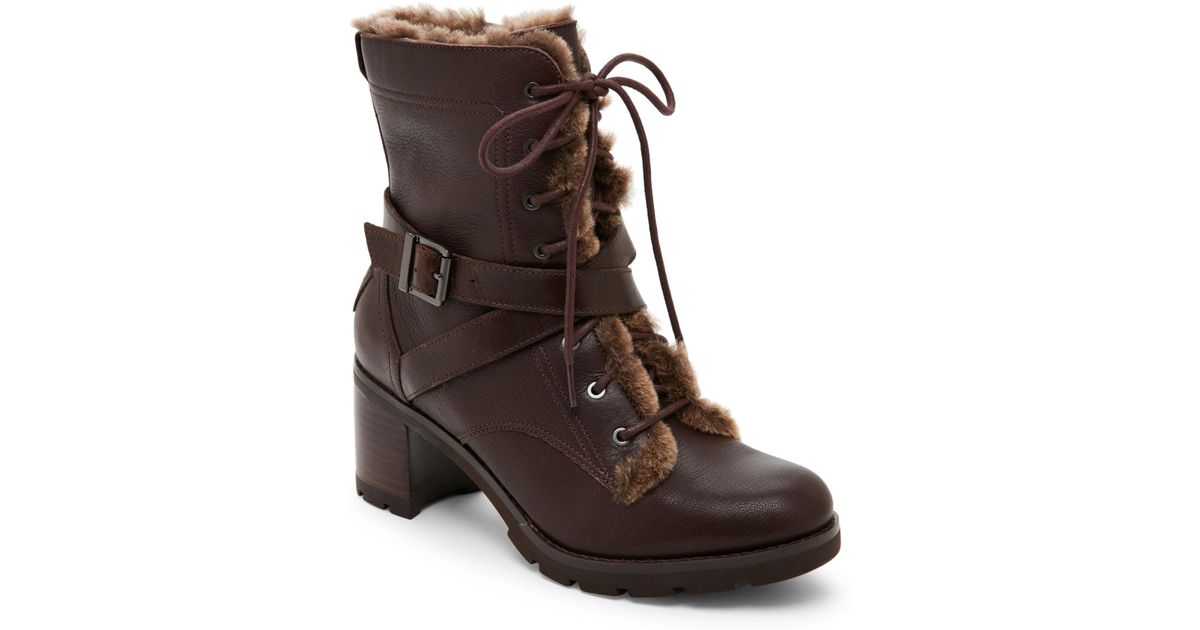c1331535b1 Ugg Brown Stout Ingrid Shearling-Lined Boots