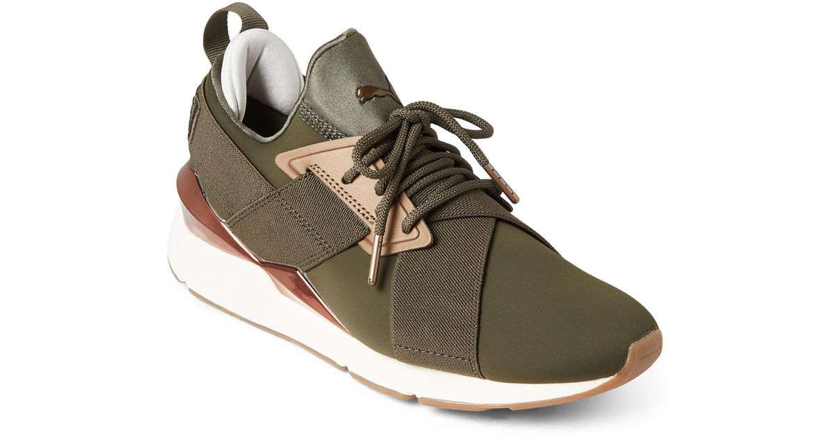 e3f29fdc46fd Lyst - PUMA Forest Night Muse Metal Low-top Sneakers