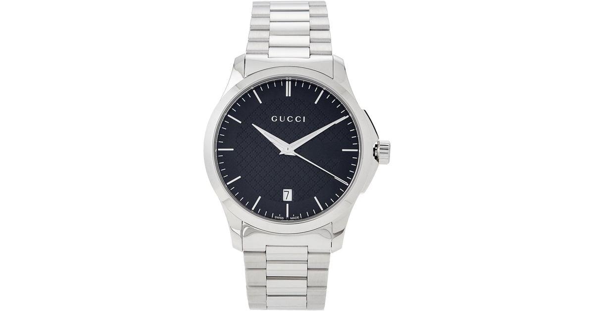 d0e07436e85 Lyst - Gucci Ya126457 Silver-tone Timeless Watch in Metallic for Men