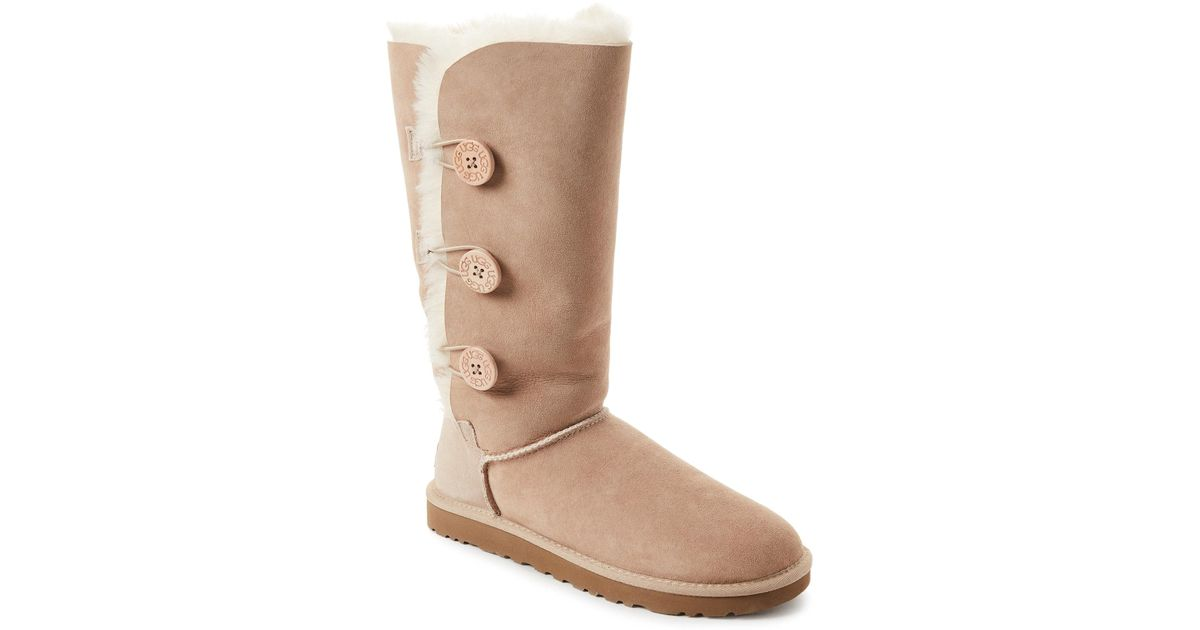 f699602fcdf Ugg Natural Sand Bailey Button Triplet Tall Boots