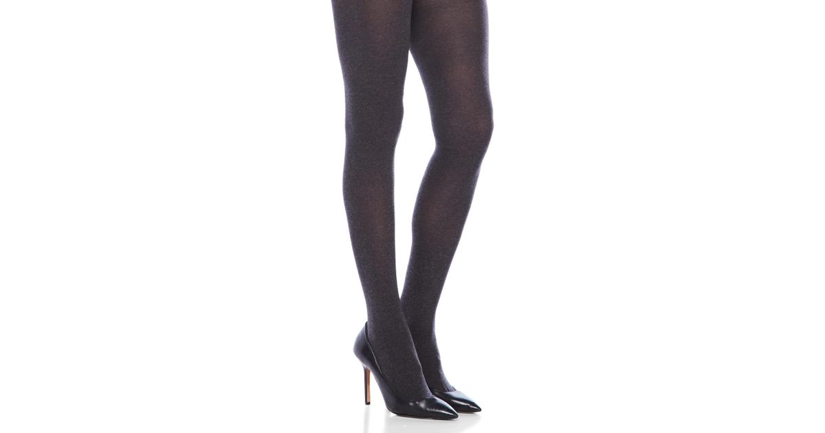 f0b97c2de16fa Lyst - Hue Ultimate Opaque Control Top Tights in Gray