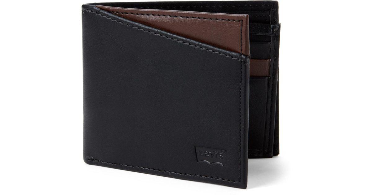 15ad1bdd3 Levi's Connor Rfid Slimfold Wallet in Black for Men - Lyst