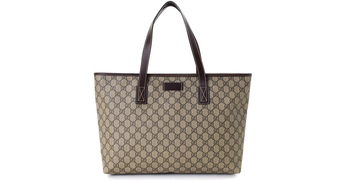 cd59ec1ca7ac Gucci Tote Bag - Vintage in Natural - Lyst