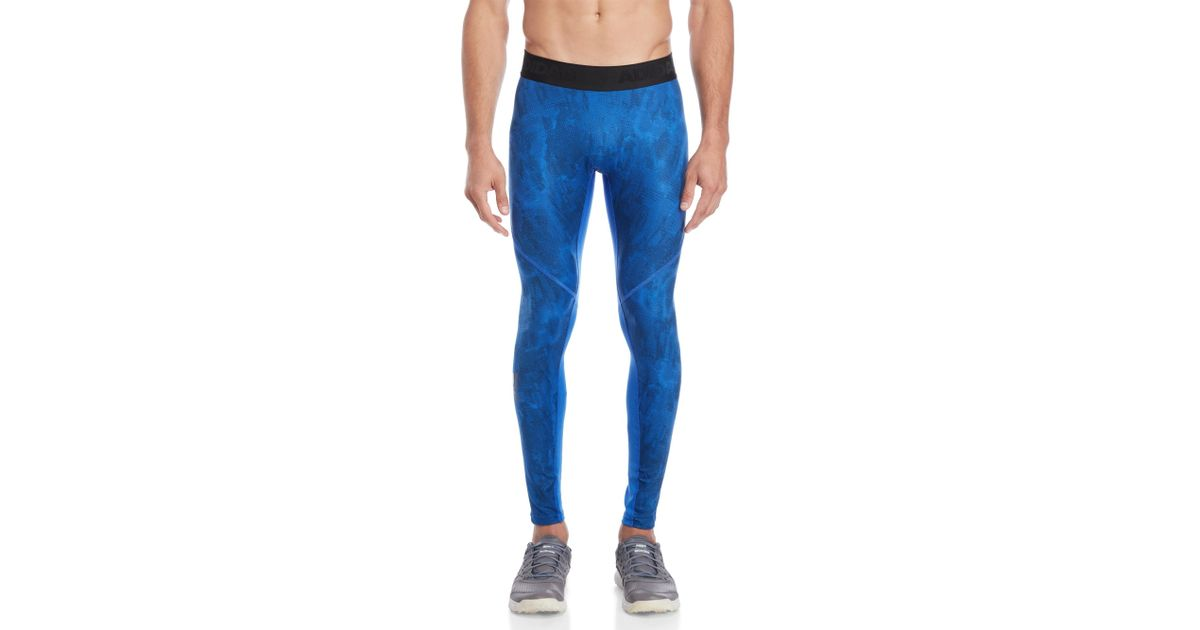 708450cb52 adidas Alphaskin Sport Supreme Speed Printed Tights in Blue for Men - Lyst
