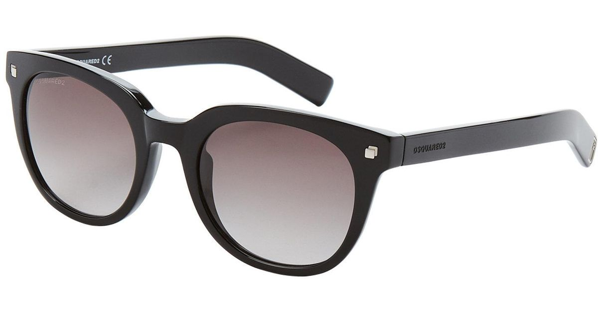 e6fc317b1bd Lyst - DSquared² Hall Dq0208 01b Black Wayfarer Sunglasses in Black