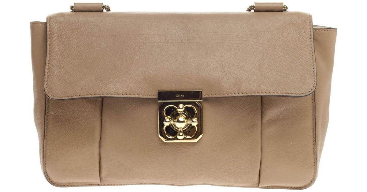 782d4d09d8ca4 Chloé Elsie Chain Shoulder Bag - Vintage in Brown - Lyst