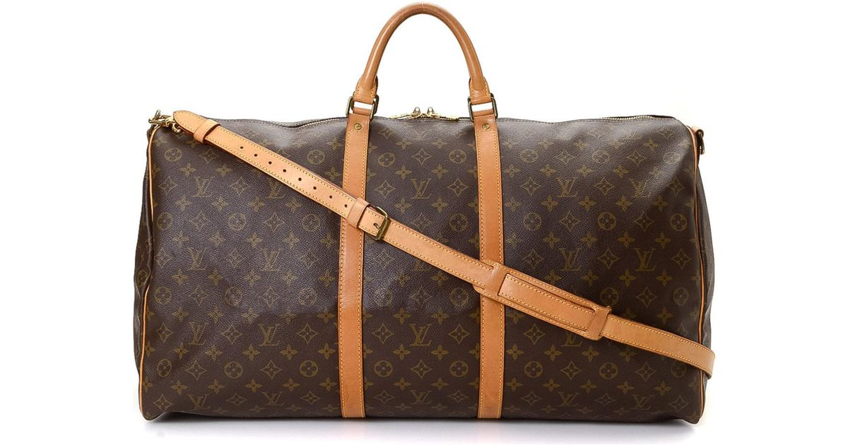 7d532664d5c1 Louis Vuitton Keepall 60 Bandouliere Travel Bag - Vintage in Brown - Lyst