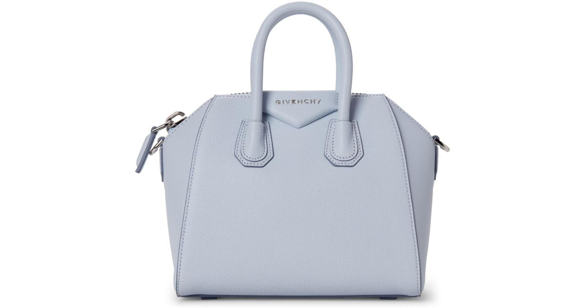 9fcff094d8ad5 Givenchy Baby Blue Antigona Mini Top Handle Satchel in Blue - Lyst