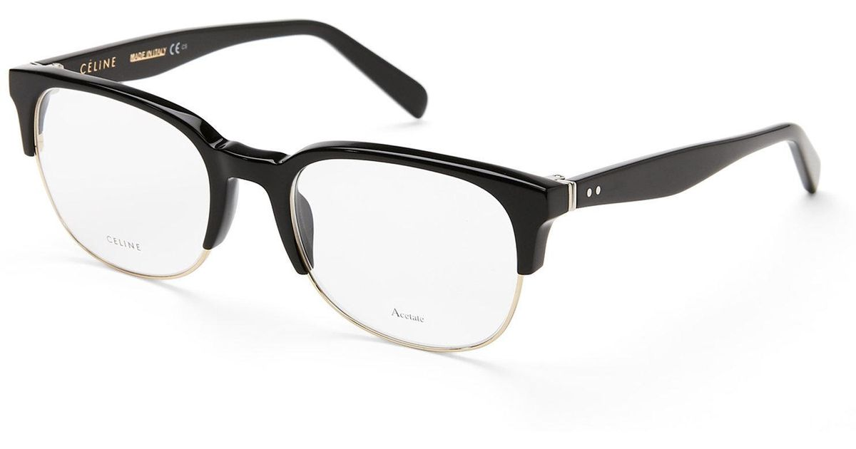 Lyst - Céline Cl 41347 Black Oval Optical Frames in Black