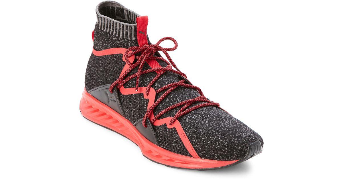 online store a930f a72fb PUMA Black & Toreador Ignite Wave Evoknit Sneakers for men