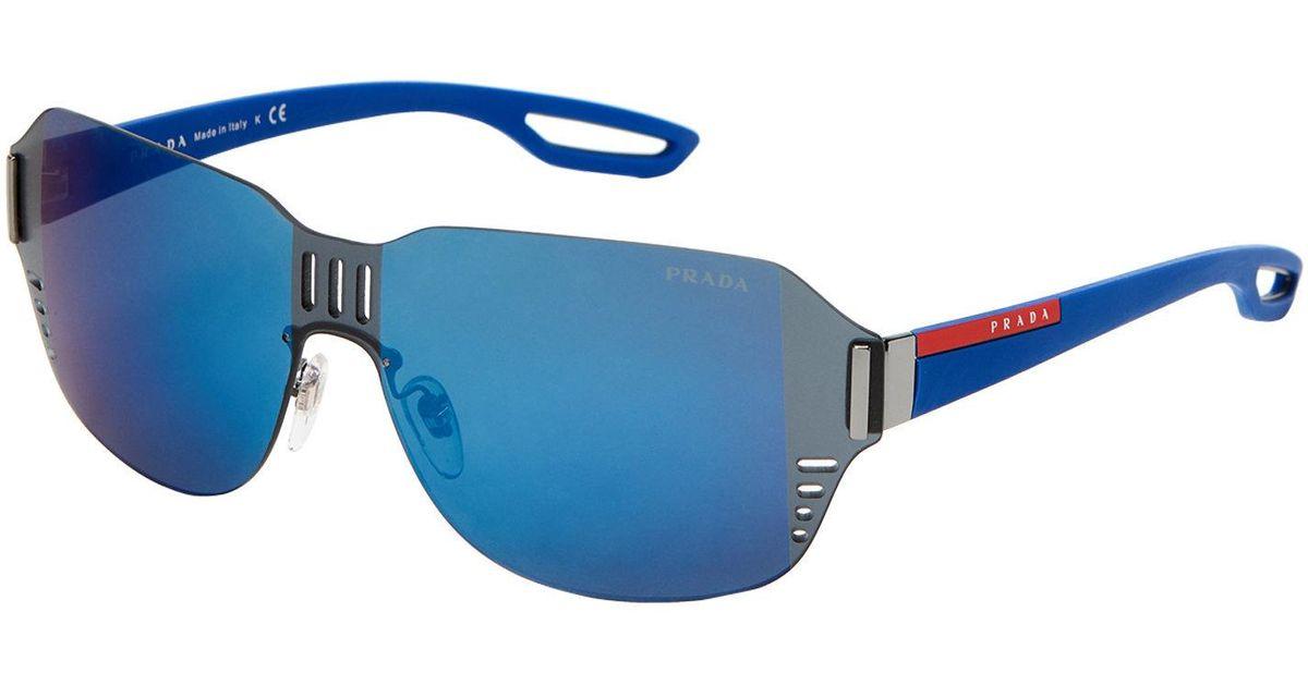 476d2a6d80 Lyst - Prada Sport Sps 05s Blue Square Sunglasses in Blue for Men