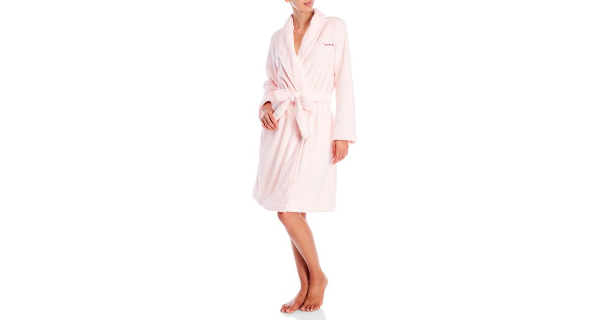 Calvin Klein Synthetic Fluffy Robe In