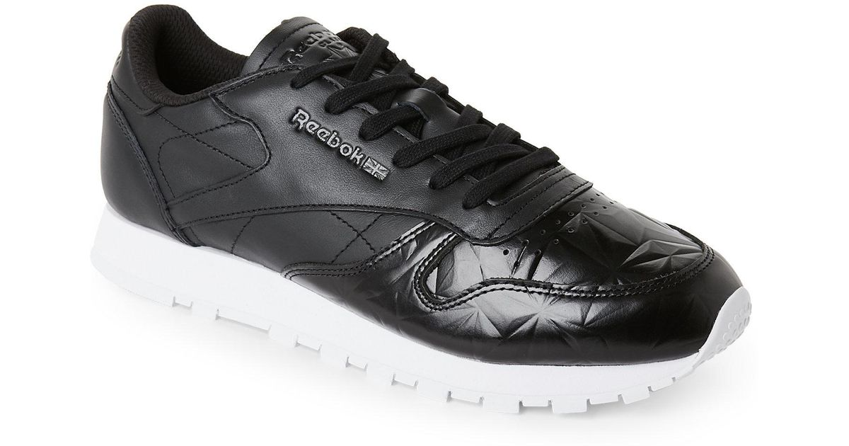 Reebok Classic Leather Hype Metallic Trainers Black 5 Uk for men