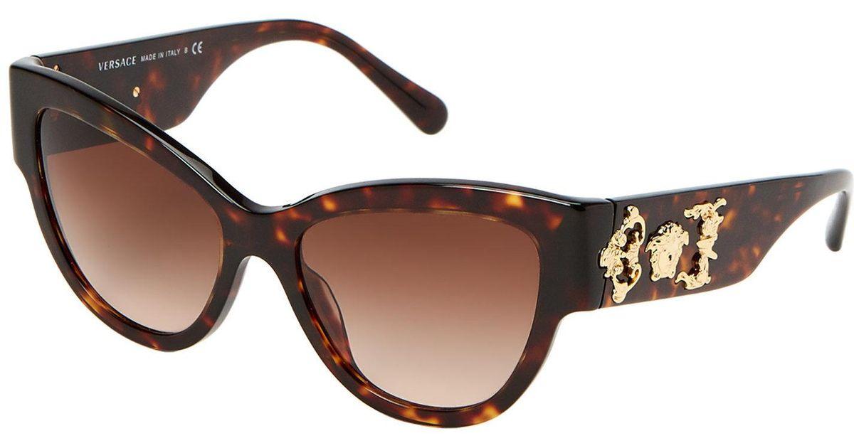 756199185de7d Lyst - Versace Ve4322 Tortoiseshell-look Cat Eye Sunglasses in Brown