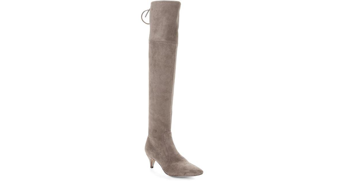 517537afa33 Lyst - Sam Edelman Steel Grey Kristie Stretch Over-the-knee Boots in Gray