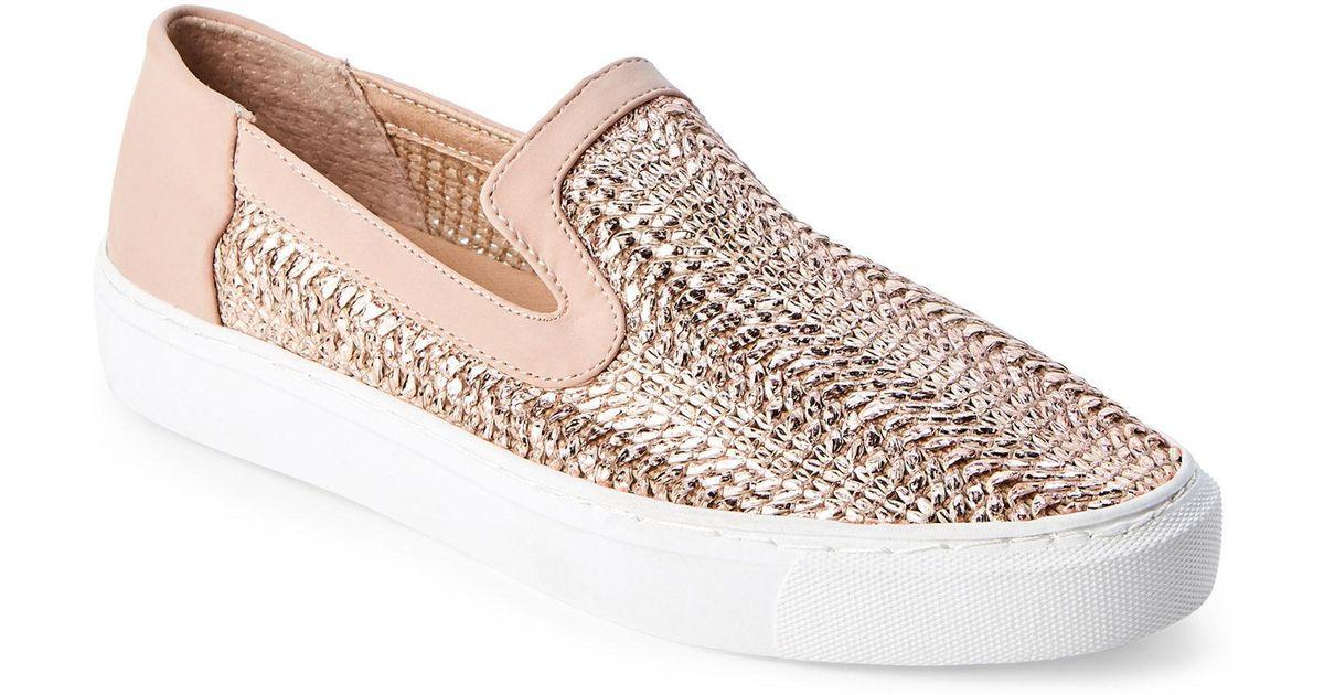 4f5be7818f2 Steven by Steve Madden Pink Rose Gold Kenner Slip On Sneakers