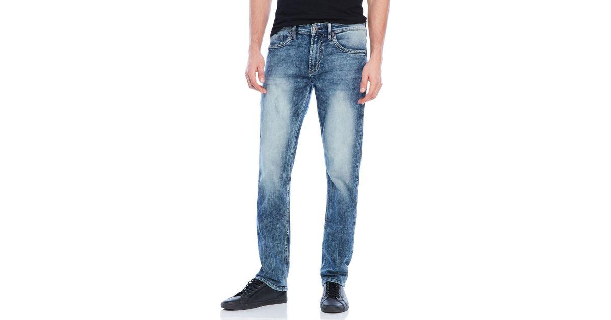 Buffalo David Bitton Men/'s Ash-X Coated Wash Black Slim Stretch Jeans