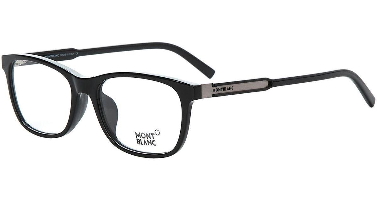Lyst - Montblanc Mb631d Black Wayfarer Optical Frames in Black for Men