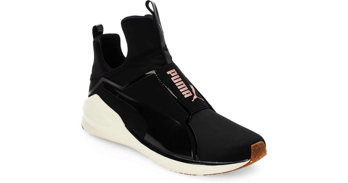 c279398a5e PUMA Black & Rose Gold Fierce Vr Training Sneakers