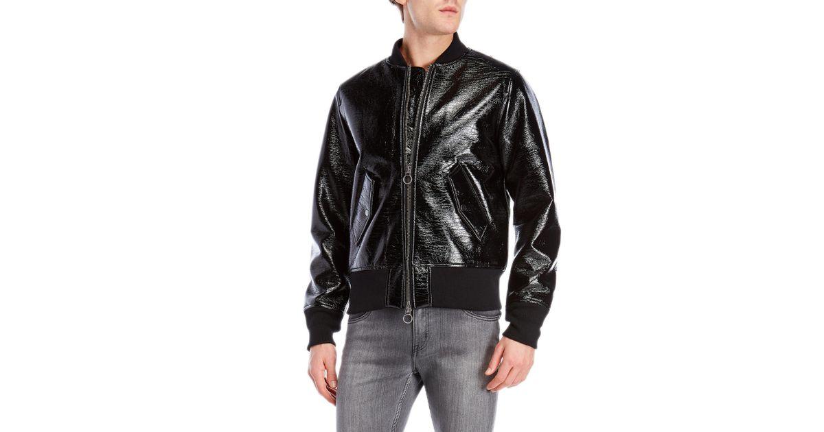 b239958d1 Guy Laroche Black Lacquered Bomber Jacket for men