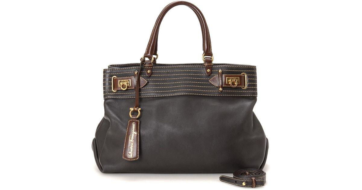 0061871d29e Lyst - Ferragamo Shoulder Bag - Vintage in Black