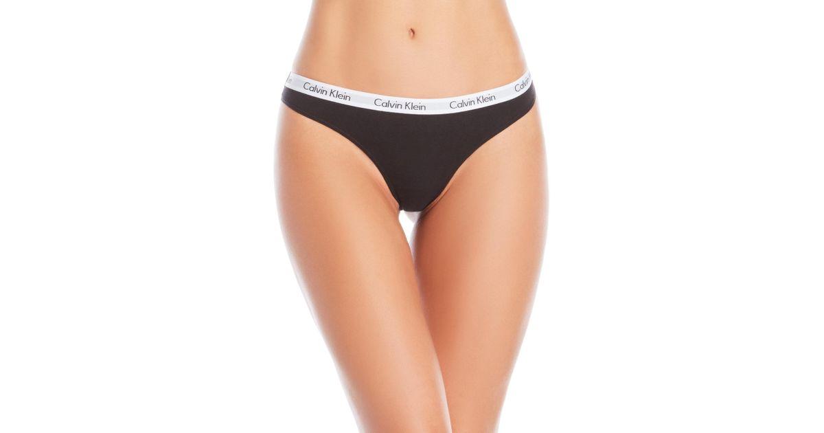8aab3f4b32 Lyst - Calvin Klein 3-Pack Carousel Cotton Thong