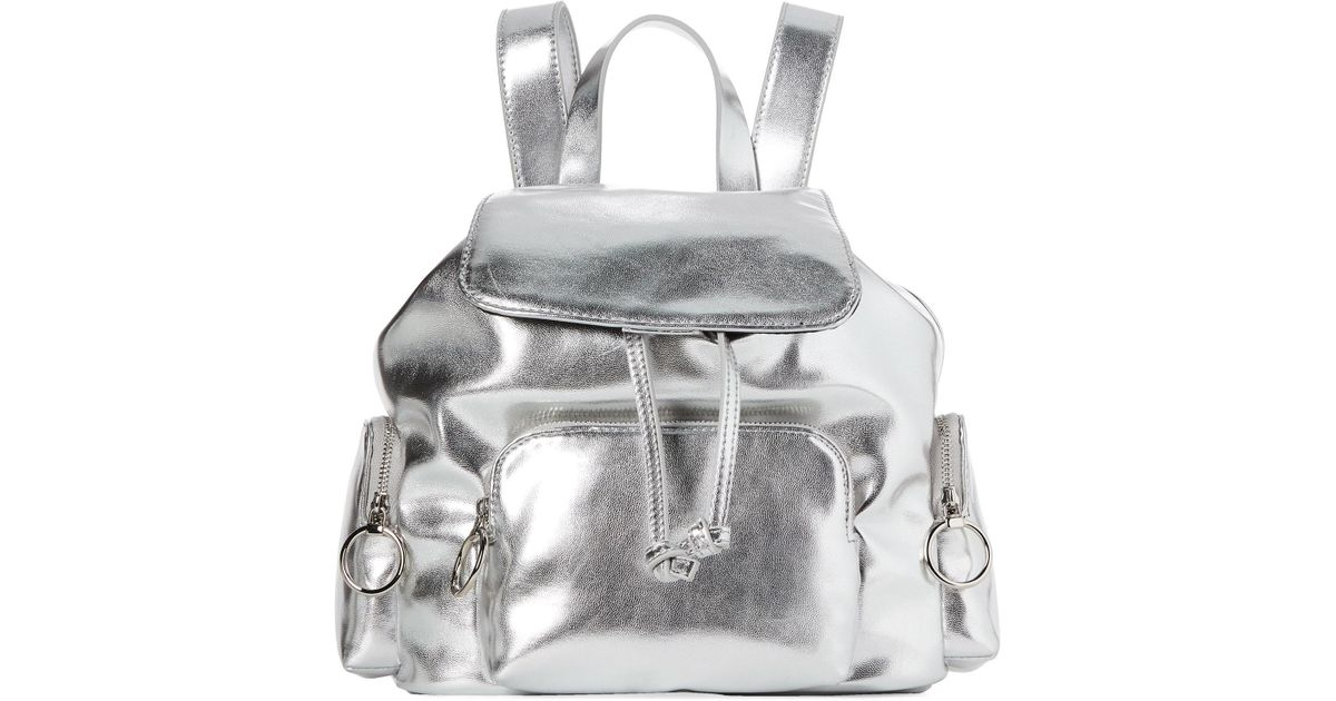 b2b48bce825 French Connection Silver Henley Small Backpack in Metallic - Lyst